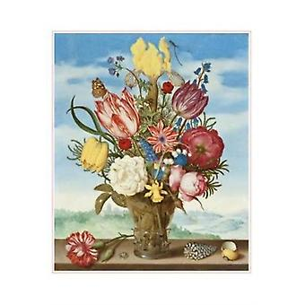Ambrosius Bosschaert  Bouquet of Flowers Boxed Small Notecards by Created by Pomegranate Communications