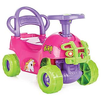 Pilsan Children ' s Car Hero 07812 Pink 2 i 1, kjører bistand, Slider, Unicorn design