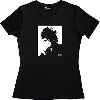 Bob Dylan Cigarette Design Black Women's T-Shirt