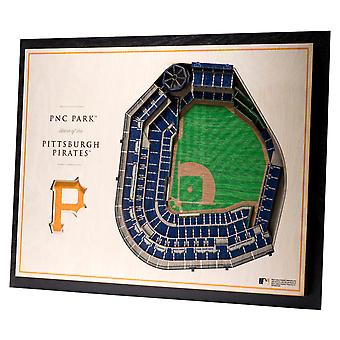 YouTheFan Wood Wall Decoration Stadium Pittsburgh Pirates 43x33cm