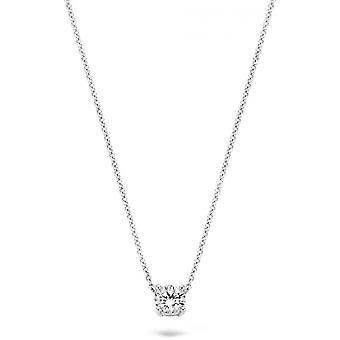 Blush 30499WZI necklace - White gold 42cm / zirconium oxide 5 mm set claw Woman