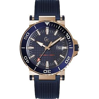 Assista GC Y36004G7 - Diver Code Box Steel Dor Rose Bracelet Silicone Blue Dial Blue Men