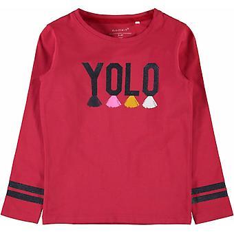 Navn-it piger T-shirt Layolo true Red