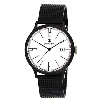 Watch James And his JAS10003 901 - date steel black man