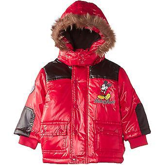 Baby мальчики Disney Микки Маус зимняя с капюшоном Куртка / Куртка