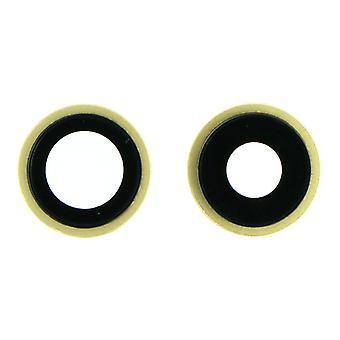 Złoty obiektyw tylnej kamery i ramka dla iPhone'a 11 | iParts4u