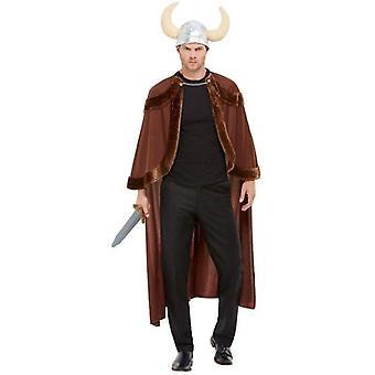 Viking kostume voksen brun