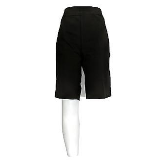 Kelly by Clinton Kelly Women's Pull-on Bermuda Shorts Black A290544