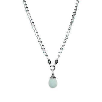 הוסף כמה פיתוי מעצב אמנותי לאוסף שלך כפול סטרנד מרובת אבנים שרשרת תכשיטים מתנות לנשים