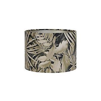 Licht & Living Zylinder Schatten 35x35x30cm Velours Palm Sepia