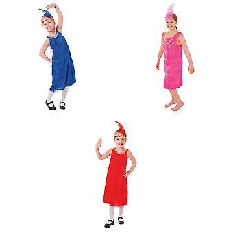 Bristol Novelty Childrens/Girls Flapper Costume