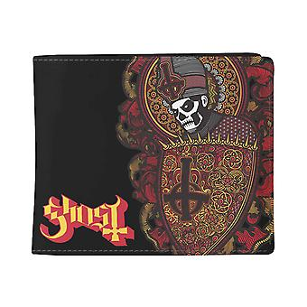 Ghost Wallet Papa Shi Band logo new Official Black Bifold