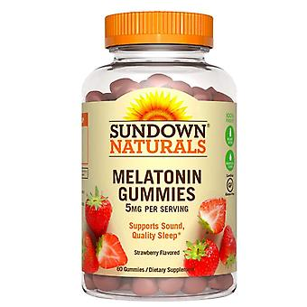 SUNDOWN naturals melatoniny, 5 mg, żelków, truskawka, 60 ea