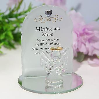 Widdop & Co. Tankar på dig Angel Plaque - Mamma