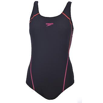 Speedo naisten graafinen paneeli Muscleback endurance yksiosainen uimapuku - musta