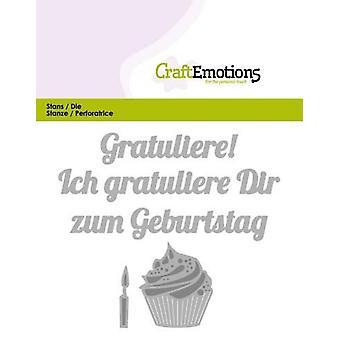 CraftEmotions يموت النص -- Gratuliere zum Geburtstag (DE) بطاقة 11x9cm