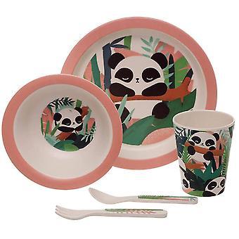 Puckator Bambootique Panda bambu lasten illallis setti