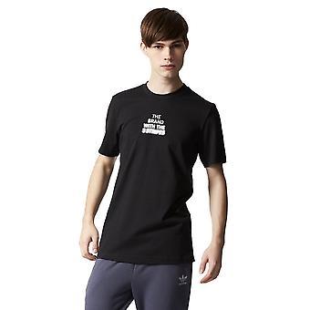 Adidas Blk Tee BQ3545 universal all year men t-shirt