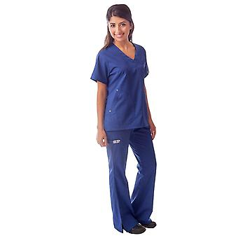 Women's 6 Pocket Flare Leg Medical Scrubs