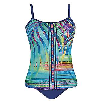 Sunflair 28020-99 Femmes-apos;s Tropical Dream Multicolor Floral Soft Cup Tankini Set
