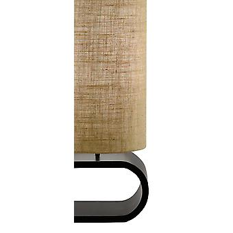 "12"" X 7.25"" X 47"" Walnut Metal MDF Floor Lamp"