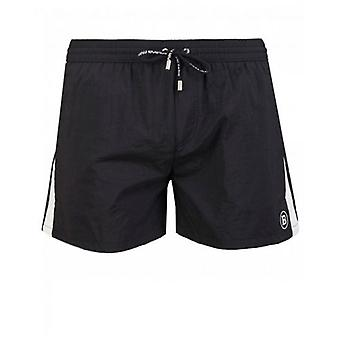 Balmain Swimwear Logo Embroidered Swim Shorts