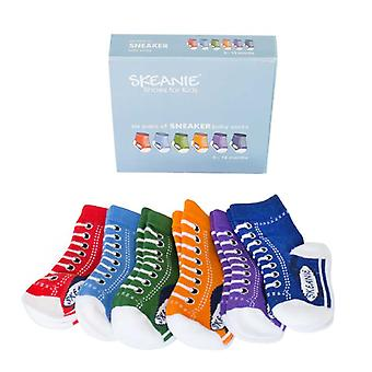 SKEANIE 6 Pack of Baby Sneakers Socks