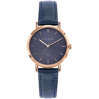 -Watch Girl Only 699061 GB leather blue woman