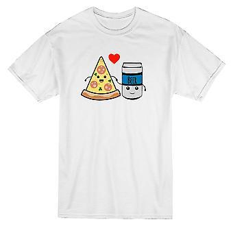 Pizza et la bière Graphic T-shirt homme