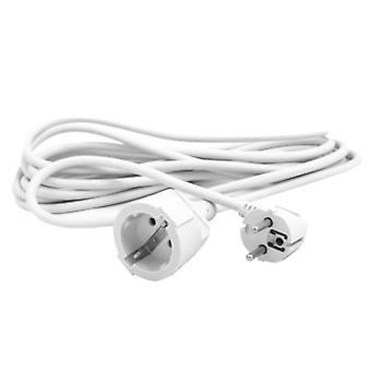 Extension Lead Schuko Silver Electronics White/5 m