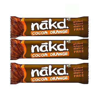 Naked Health Bars Pack av 9 Raw Fruit Nut Bar Vegan Inget tillsatt socker (Cocoa Orange)