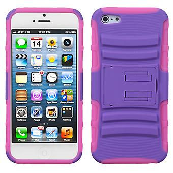 Asmyna Advanced Armor Stand Case pour Apple iPhone 5/5S - Purple/Electric Pink