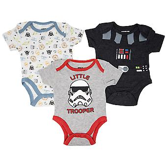 Star Wars 3-Pack Infant Bodysuit Set