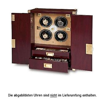 Rapport London Watch Winder Mariners Chest Mahagony Quad W284