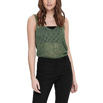 Only Women's Linessa Knitted Top Khaki