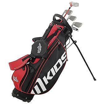 MKids Lite Junior Kids Golf Tas en Clubs Half Set Left Hand Red 7-9 Jaar