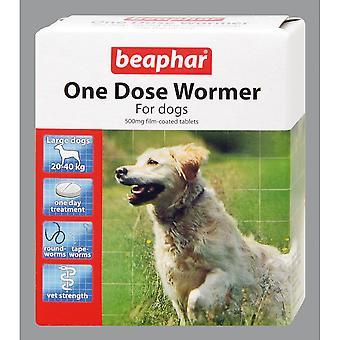 Beaphar CANAC una dosis gran perro Wormer (4 envases de 6)