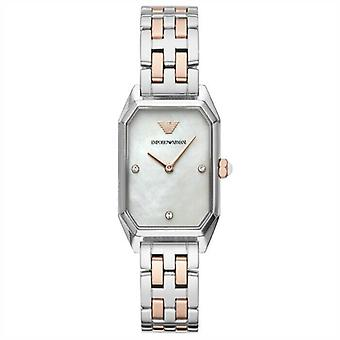 Emporio Armani AR11146 Silver & Rose Gold Stainless Steel Ladies Watch