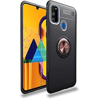 Mobiles Gehäuse mit Ringhalter Samsung Galaxy M30S - schwarz/rosé