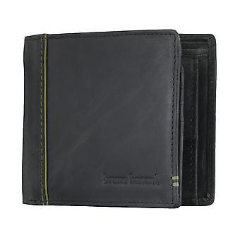 Bruno banani mens plånbok purse wallet svart/grön 4896