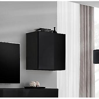 Modulo Parete Soggiorno Blox Sw20 Color Nero in Truciolare, MDF 35x32x35 cm