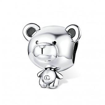 Sterling Silber Charm Spielzeugbär - 6628