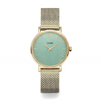 Cluse CW0101203030 Minuit Mesh Gold Tone Wristwatch