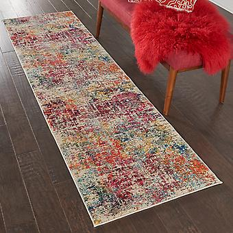 Celestial CES13 Pink Multi  Rectangle Rugs Funky Rugs