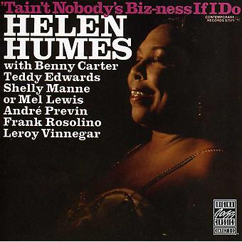 Helen Humes - Tain't Nobody's Biz-Ness If I [CD] USA import