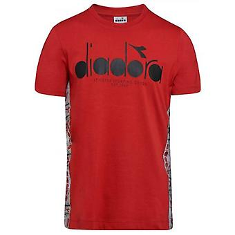 Diadora Red Short Sleeve T-Shirt