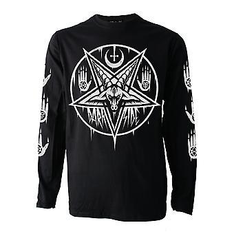 Darkside - pentagram baphomet - mens long sleeve top - black