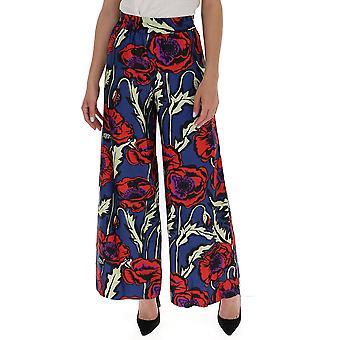 La Double J Tro0003sil001pfi0001 Women's Multicolor Silk Pants