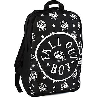 Fall Out Boy Backpack Rock Sax Rose Stamp Music Merchandise Rucksack Bag Adults