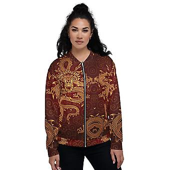 All-Over Print Unisex BomberJacke | Gold Dragons